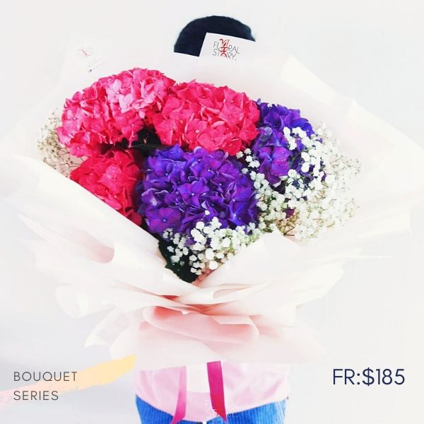 $185 Personalized Grande Hydrangeas Bouquet