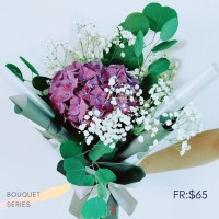 $65 Personalised Hydrangea Bouquet