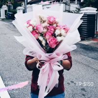 $150  Personalized Bouquet Pink 사랑해