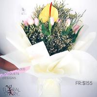$155 Personalized Bouquet 사랑해
