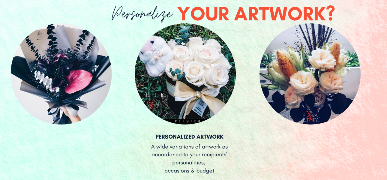Personalized Floral Artwork