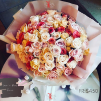 Personalised 99 ROSES Luxury Giant Bouquet 사랑해