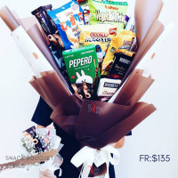 $135 Personalized Snacks Bouquet