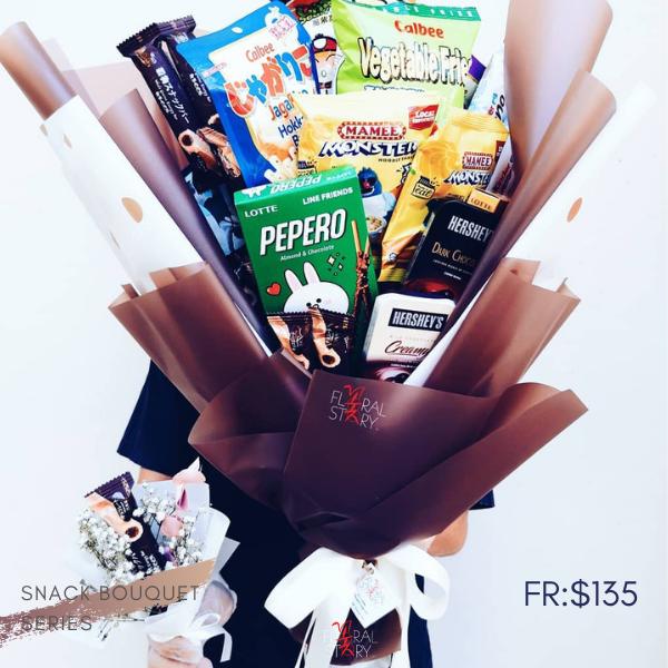 $135 Personalized Snacks Bouquet