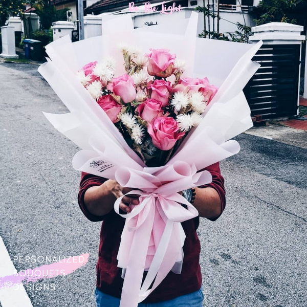 $155 Personalized Bouquet Pink 사랑해
