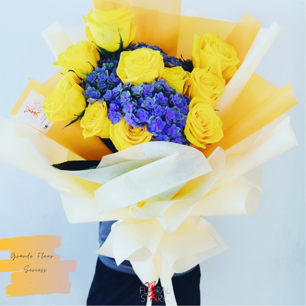 $250 Personalised Rosei Hydrangeas Bouquet