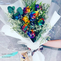 $295 Personalized Luxury Giant Bouquet 사랑해