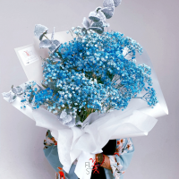 $135 Personalised Baby Breath Bouquet